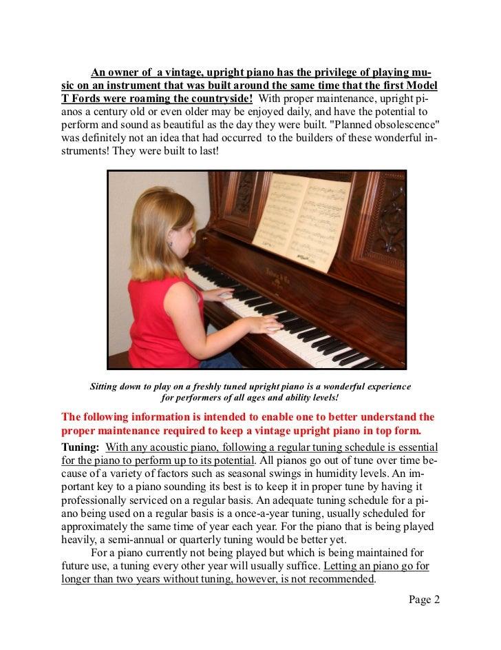 Newsletter 21 vintage upright piano maintenance Slide 2