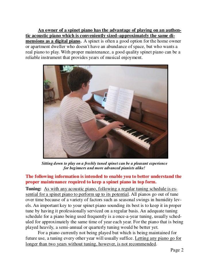 Newsletter 23   spinet piano maintenance Slide 2