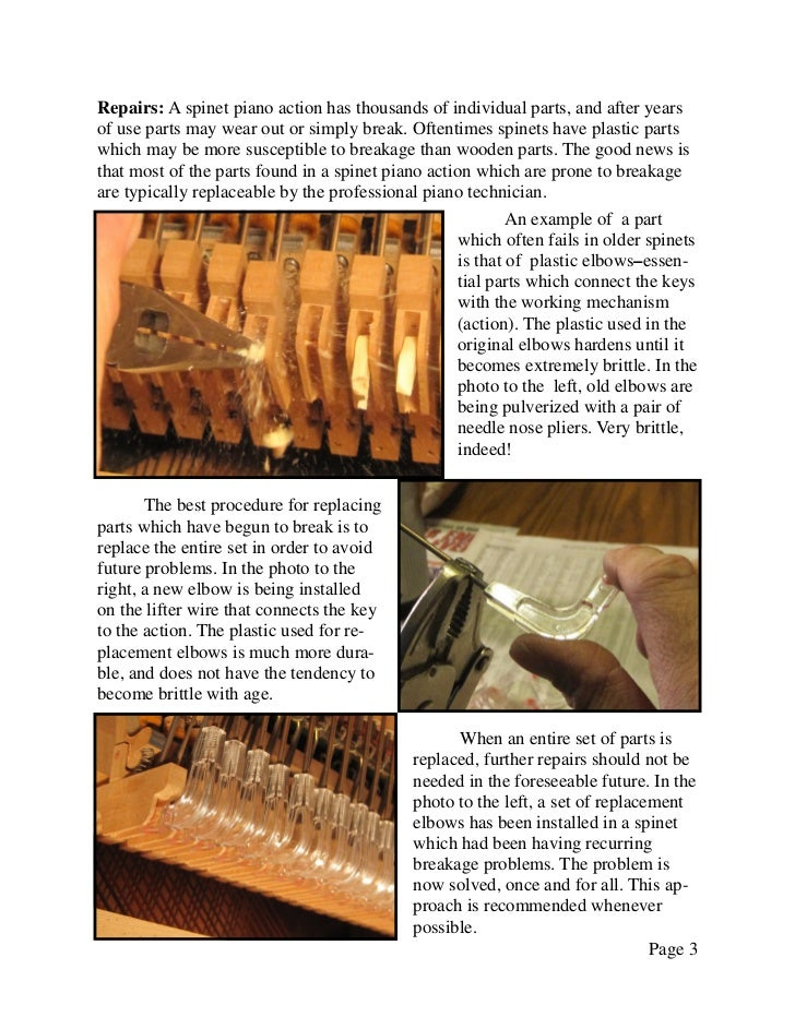 Newsletter 23   spinet piano maintenance Slide 3