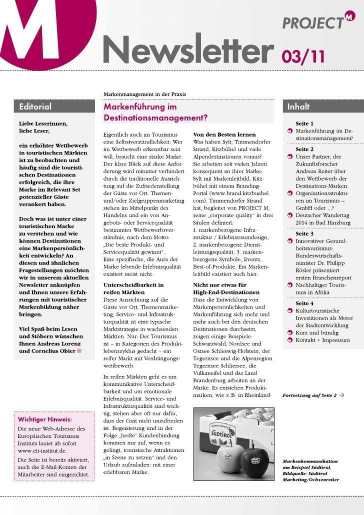 Newsletter 03/11