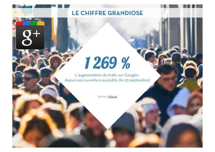 LE CHIFFRE GRANDIOSE           1 269 %     L'augmentation du trafic sur Google+depuis son ouverture au public (le 23 septem...
