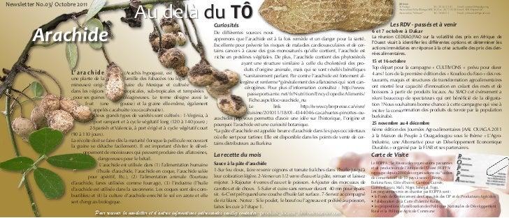 Au delà du TÔNewsletter No.03/ Octobre 2011                                                                               ...