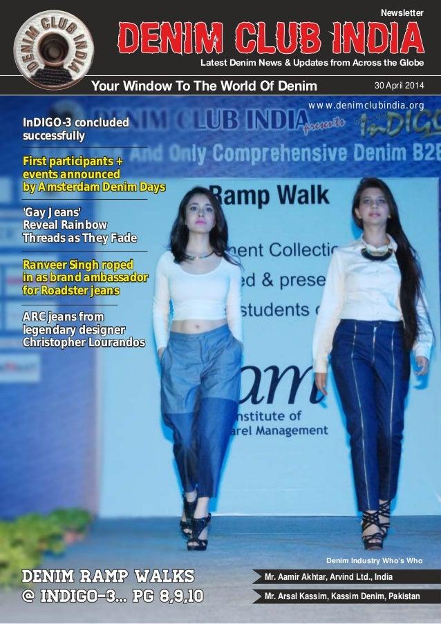 Denim Club Newsletter : Issue April 30, 2014