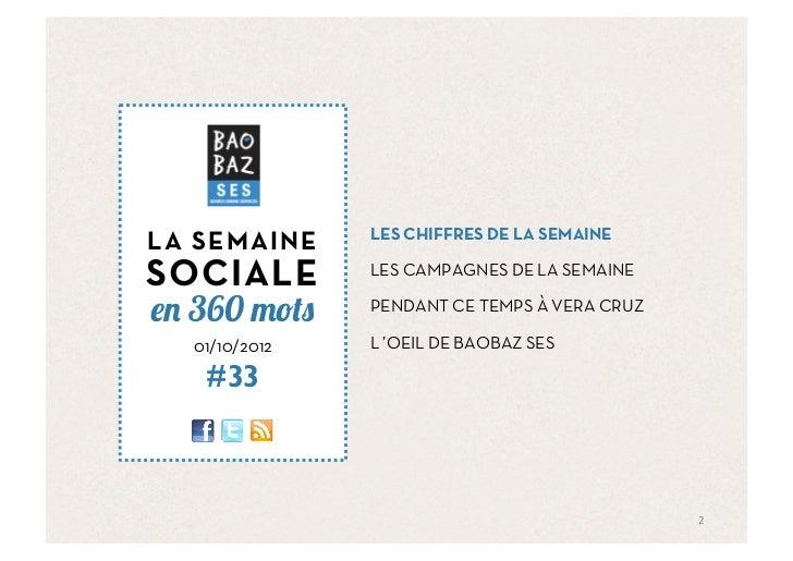 Baobaz SES - La semaine sociale 011012 Slide 2