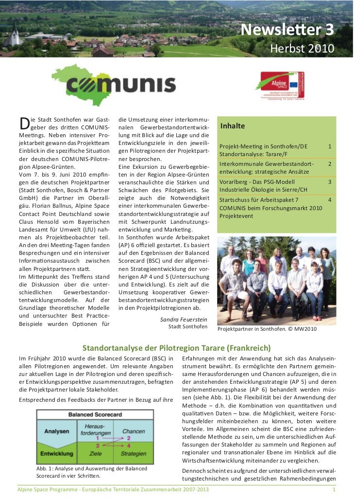 Newsletter 3                                                                                                 Herbst 2010D ...
