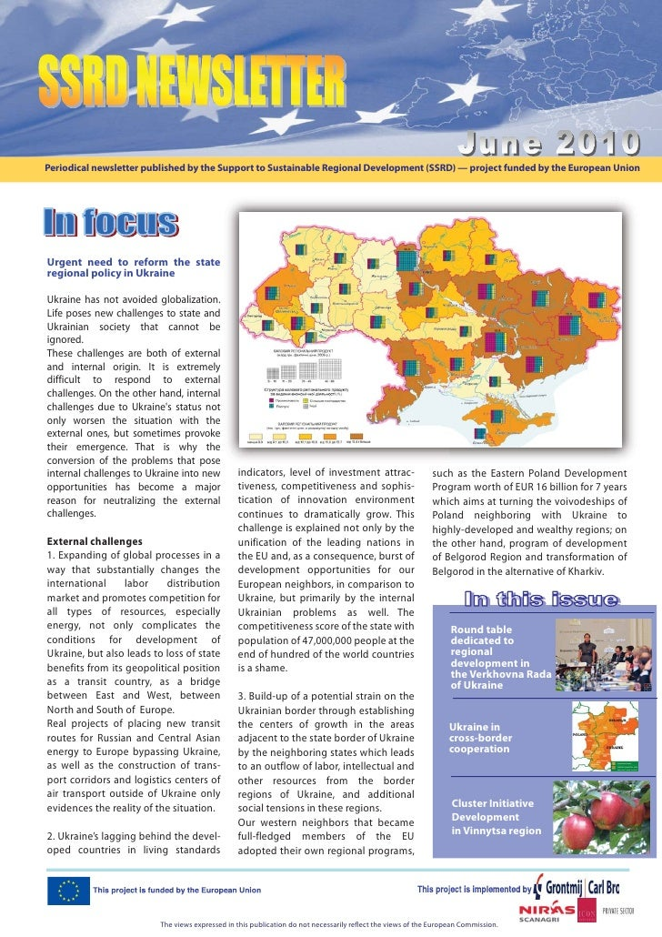 Periodical newsletter published by the Support to Sustainable Regional Development (SSRD) — project funded by the European...