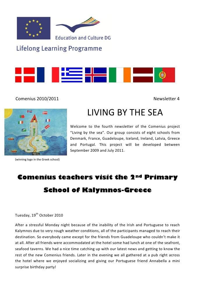 Comenius 2010/2011                                                                 Newsletter 4                           ...