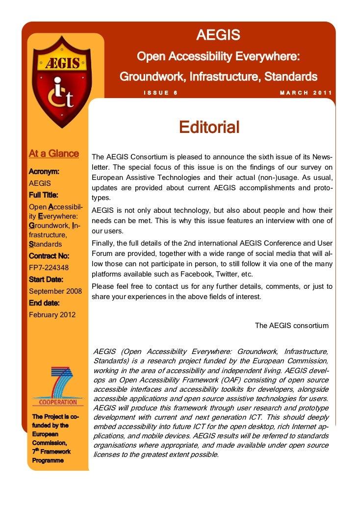 AEGIS                                    Open Accessibility Everywhere:                               Groundwork, Infrastr...
