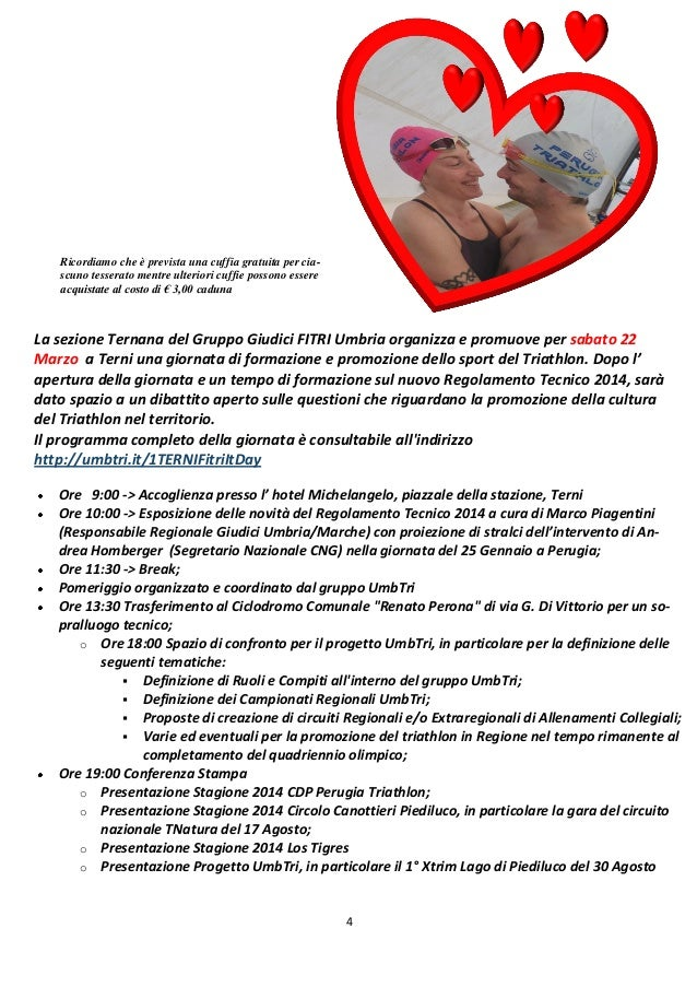 Newsletter cdp perugia triathlon n 7 2014 - Cuffie piscina personalizzate ...