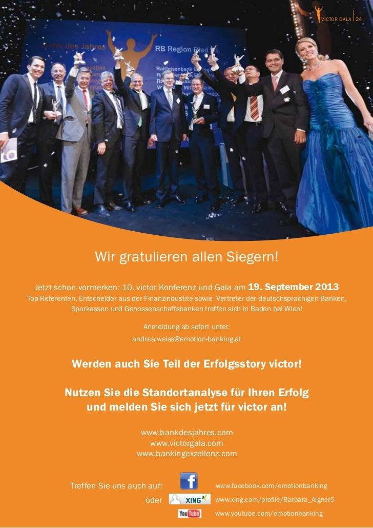 victor GALA 24                    Wir gratulieren allen Siegern!  Jetzt schon vormerken: 10. victor Konferenz und Gala am ...