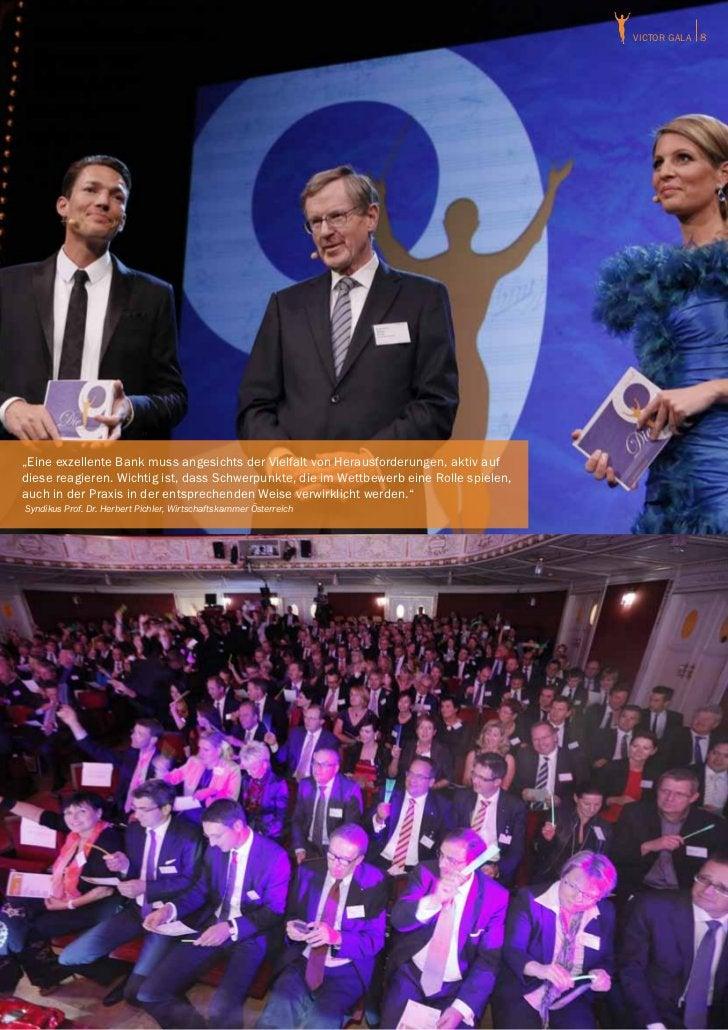 """victor GALA 8""""Eine exzellente Bank muss angesichts der Vielfalt von Herausforderungen, aktiv aufdiese reagieren. Wichtig i..."""
