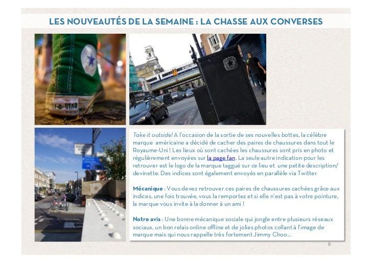 LES NOUVEAUTÉS DE LA SEMAINE : LA CHASSE AUX CONVERSES                Take it outside! A l'occasion de la sortie de ses no...