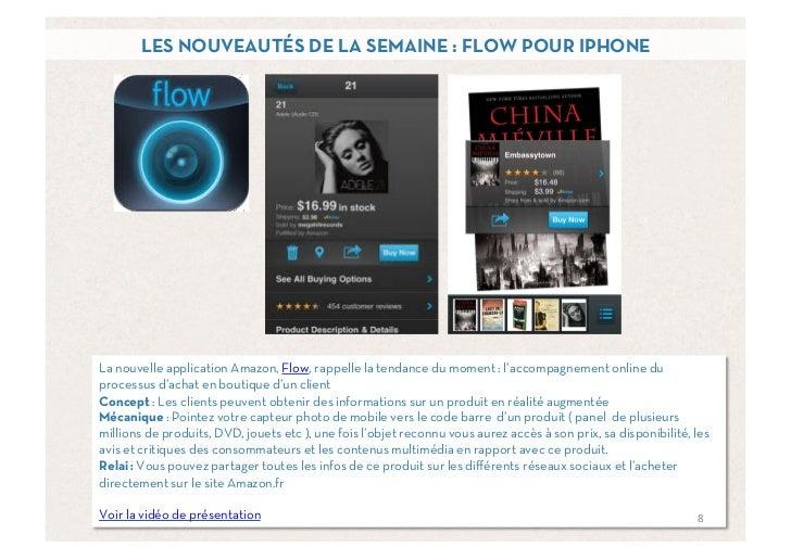 LES NOUVEAUTÉS DE LA SEMAINE : FLOW POUR IPHONELa nouvelle application Amazon, Flow, rappelle la tendance du moment : l'ac...