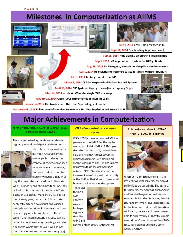 Newsletter achievements AIIMS 2013 14 Slide 2