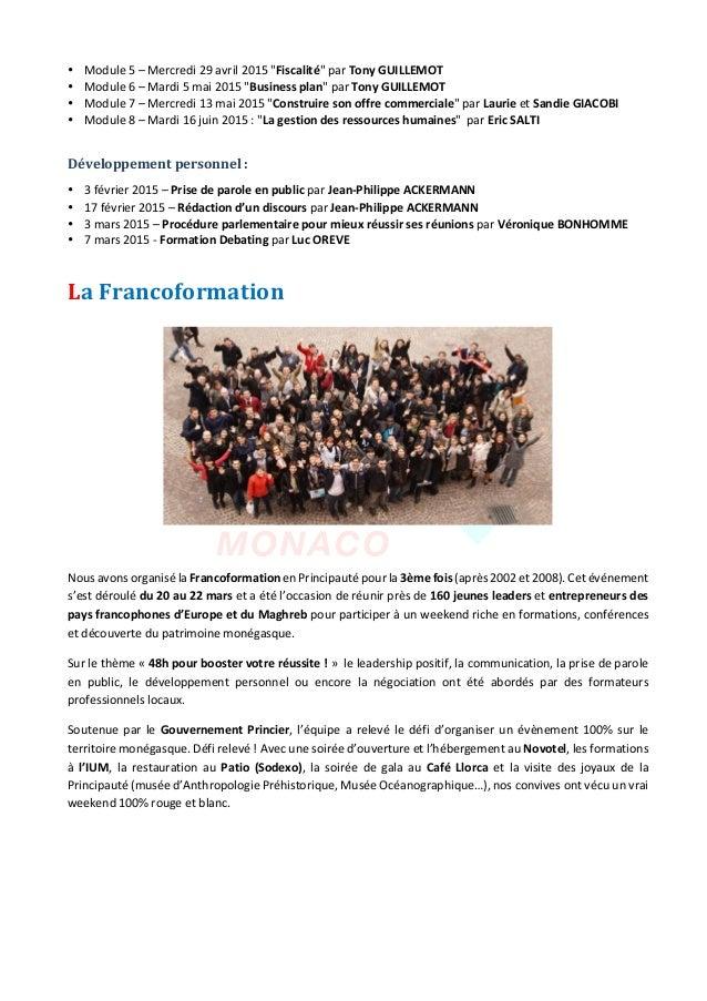 "JeuneChambreEconomiquedeMonaco-Newsletterbiannuelle-juillet2015  2 • Module5–Mercredi29avril2015""Fisca..."