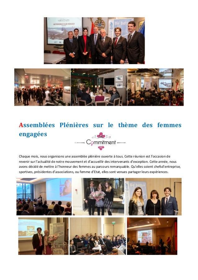 JeuneChambreEconomiquedeMonaco-Newsletterbiannuelle-juillet2015  6    Assemblées Plénières sur le thèm...