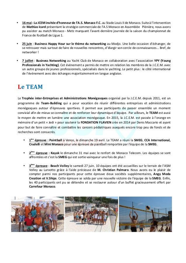 JeuneChambreEconomiquedeMonaco-Newsletterbiannuelle-juillet2015  9  • 16mai:LaJCEMinvitéed'honneurde...