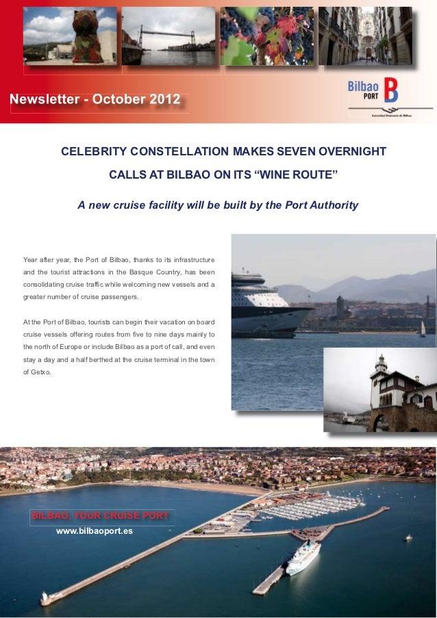 Newsletter - October 2012               CELEBRITY CONSTELLATION MAKES SEVEN OVERNIGHT                               CALLS ...