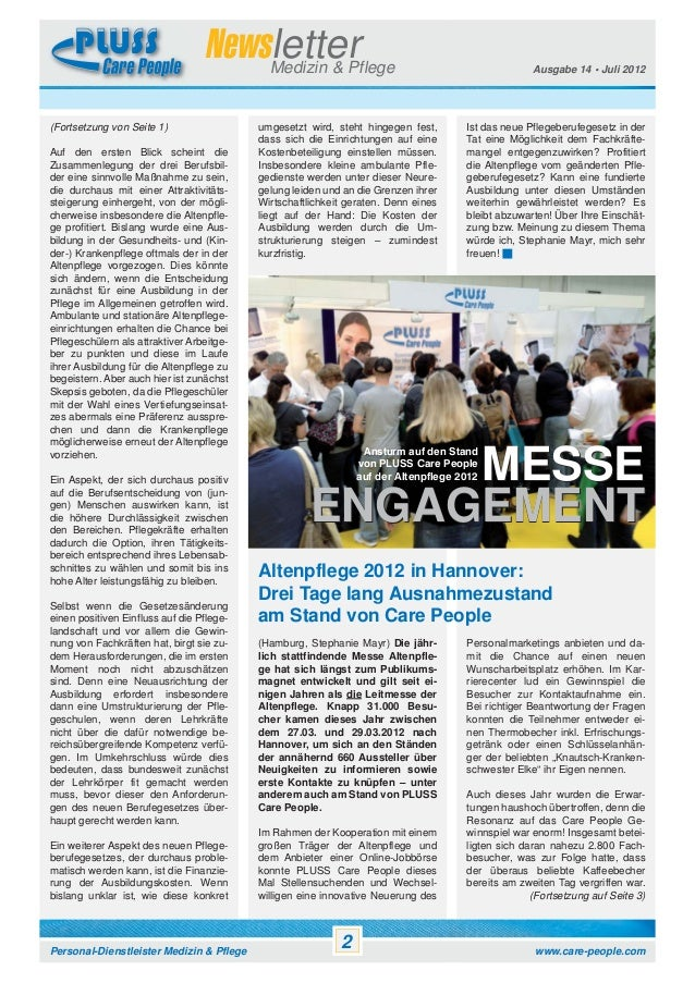 Newsletter Pluss Care People Vol. 14 Slide 2