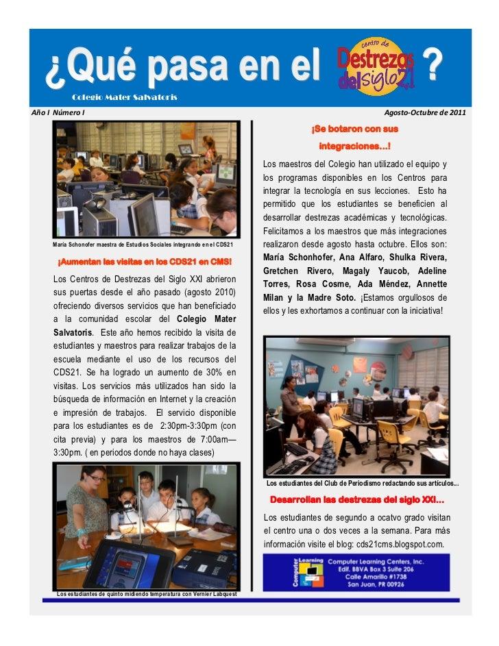 Colegio Mater SalvatorisAño I Número I                                                                                    ...