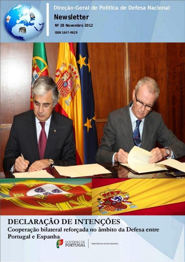 NewsletterNº 28 Novembro 2012ISSN 1647-9629                           mde.es                      34