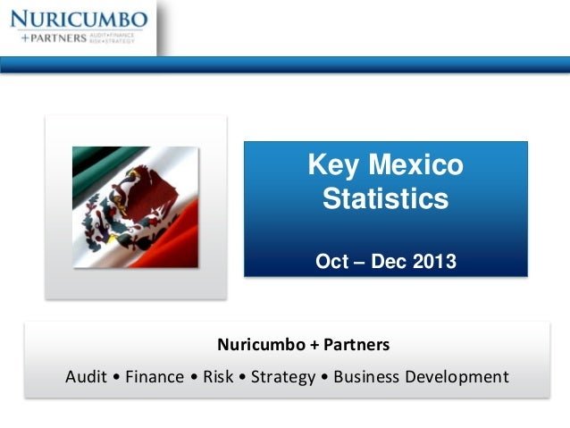 Key Mexico Statistics Oct – Dec 2013  Nuricumbo + Partners Audit • Finance • Risk • Strategy • Business Development