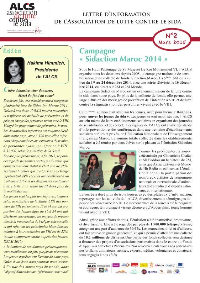 Newsletter ALCS Donateurs - Mars 2015 (français)