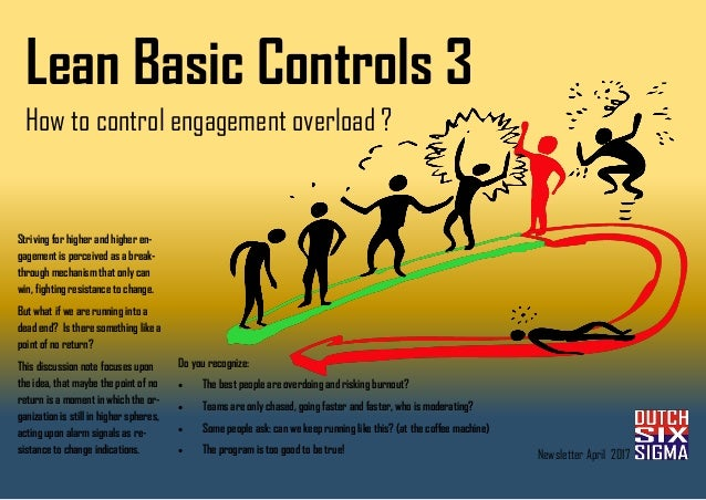Lean Basic Controls 3 How to control engagement overload ? Striving for higher and higher en- gagement is perceived as a b...