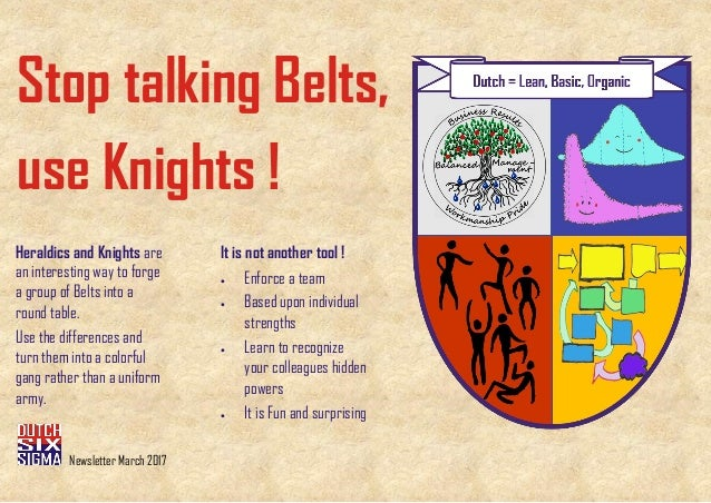 Stop talking Belts, use Knights ! It is not another tool ! • Enforce a team • Based upon individual strengths • Learn to r...