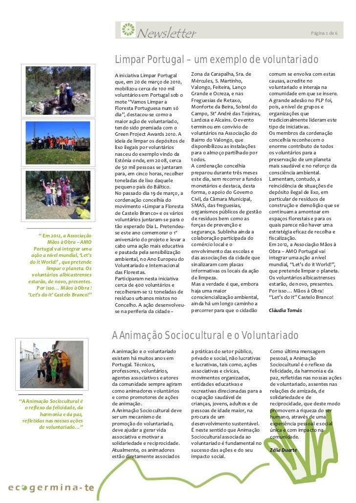 Newsletter Ecogerminate Ed.1  Slide 2
