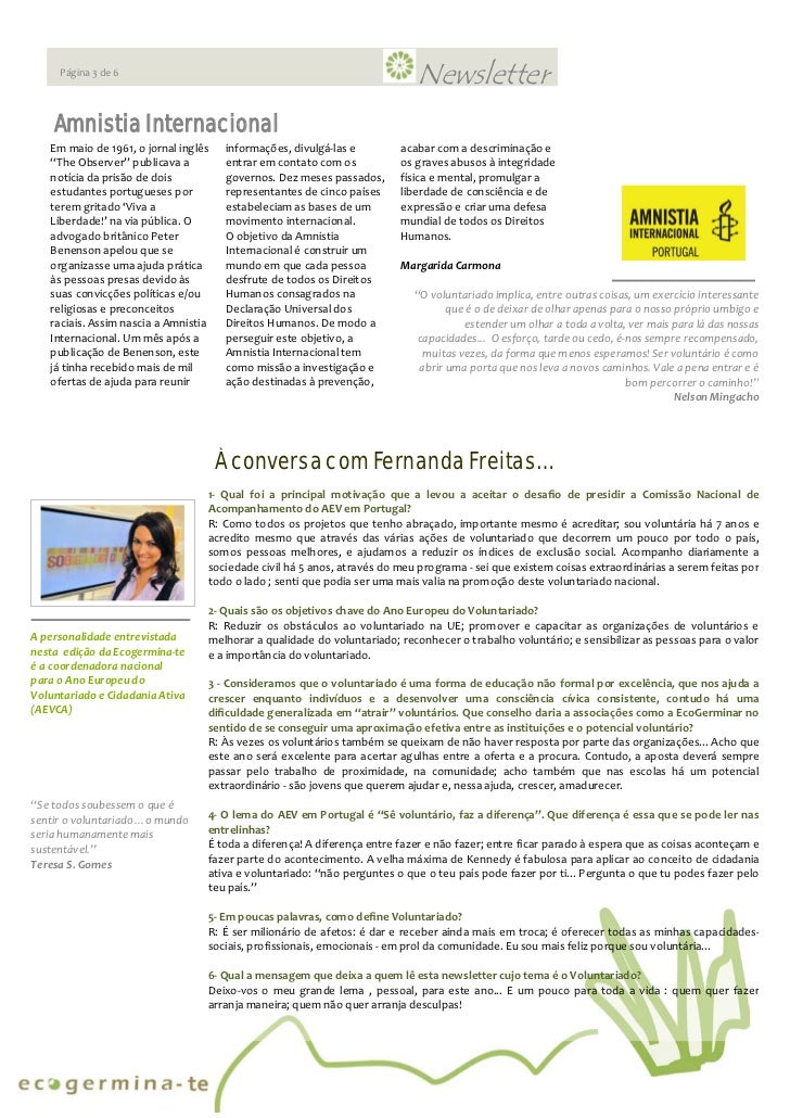 Newsletter Ecogerminate Ed.1  Slide 3