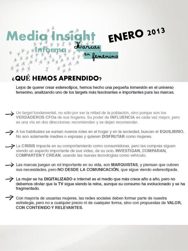 Media Insight     Informa¿QUÉ HEMOS APRENDIDO?