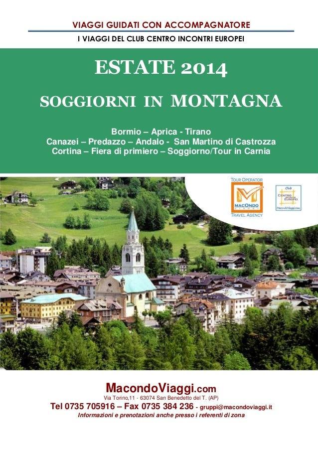 Newsletter estate 2014 solo montagna