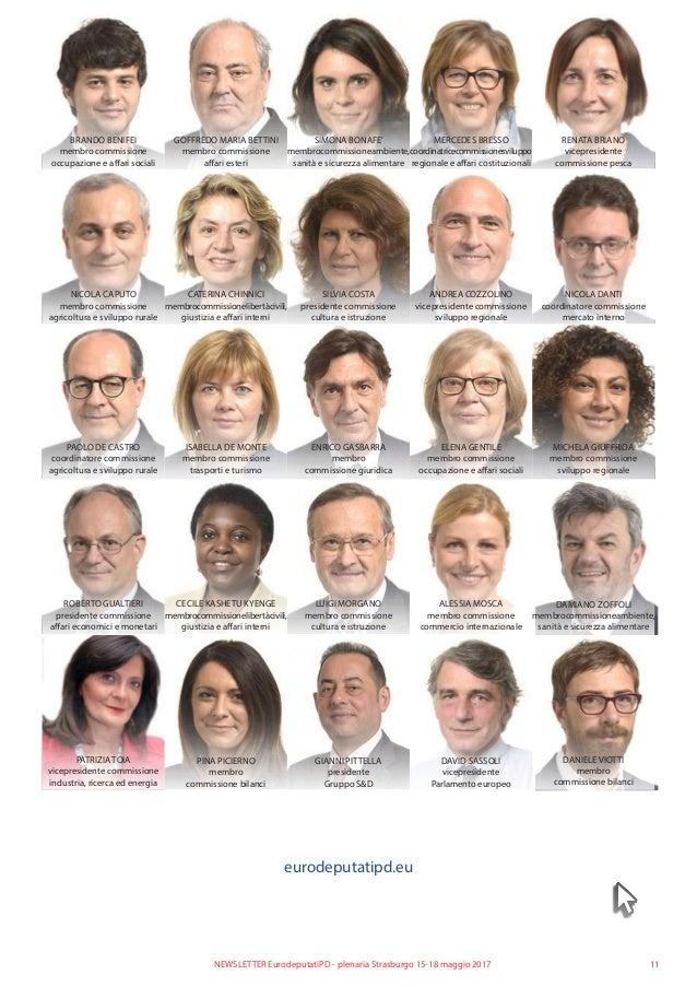 11NEWSLETTER EurodeputatiPD - plenaria Strasburgo 15-18 maggio 2017 BRANDO BENIFEI membro commissione occupazione e affari...