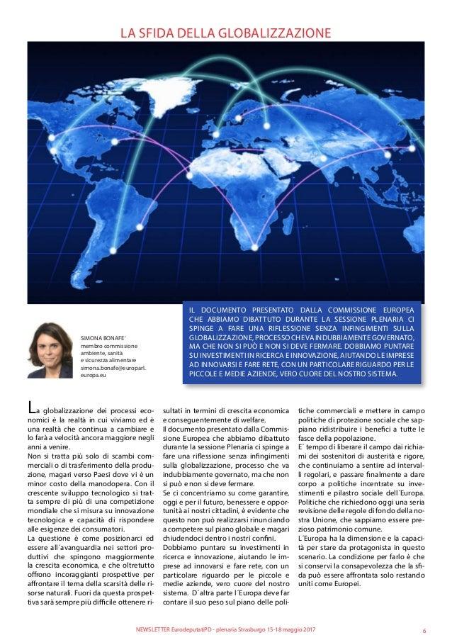 LA SFIDA DELLA GLOBALIZZAZIONE IL DOCUMENTO PRESENTATO DALLA COMMISSIONE EUROPEA CHE ABBIAMO DIBATTUTO DURANTE LA SESSIONE...