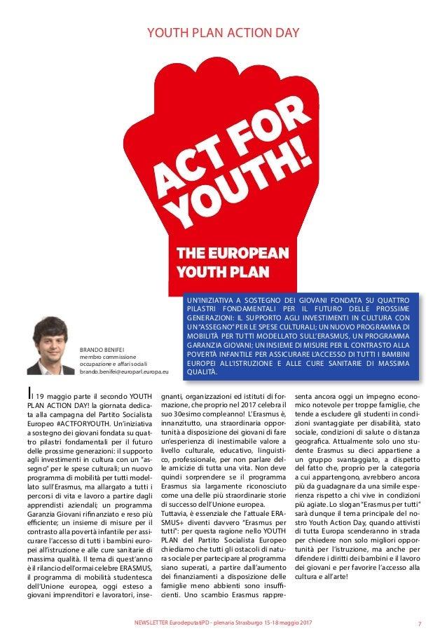 YOUTH PLAN ACTION DAY UN'INIZIATIVA A SOSTEGNO DEI GIOVANI FONDATA SU QUATTRO PILASTRI FONDAMENTALI PER IL FUTURO DELLE PR...
