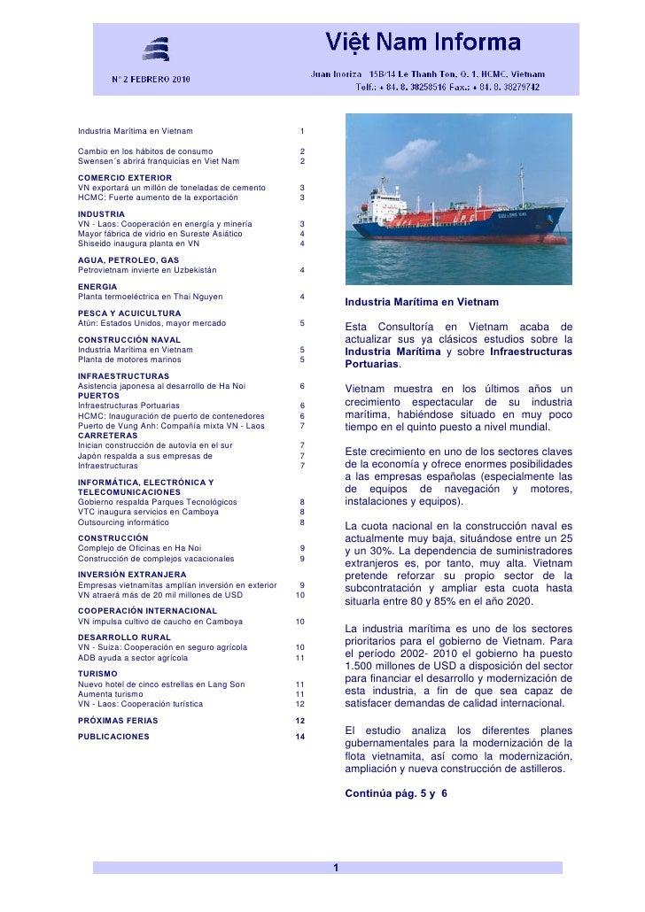Industria Marítima en Vietnam                         1  Cambio en los hábitos de consumo                      2 Swensen´s...
