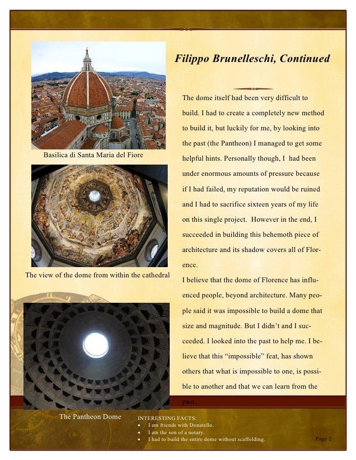 fillipo brunelleschi Filippo brunelleschi: rana renesansa giovanni bandini, brunelleschijev portret iznad groba u santa maria del fiore: rođenje 1377 firenca, italija: smrt.