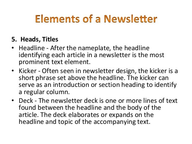 How to Make a Newsletter