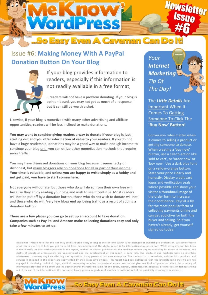 Issue #6: Making Money With A PayPal                                                                                      ...
