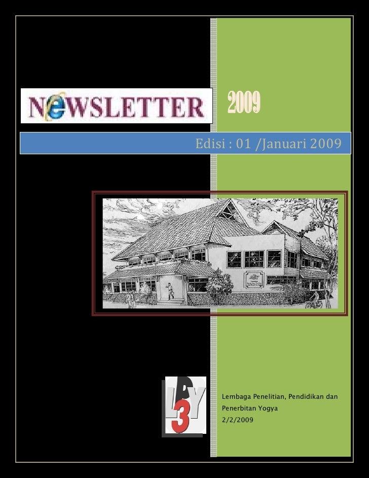 2009 Edisi : 01 /Januari 2009         Lembaga Penelitian, Pendidikan dan     Penerbitan Yogya     2/2/2009