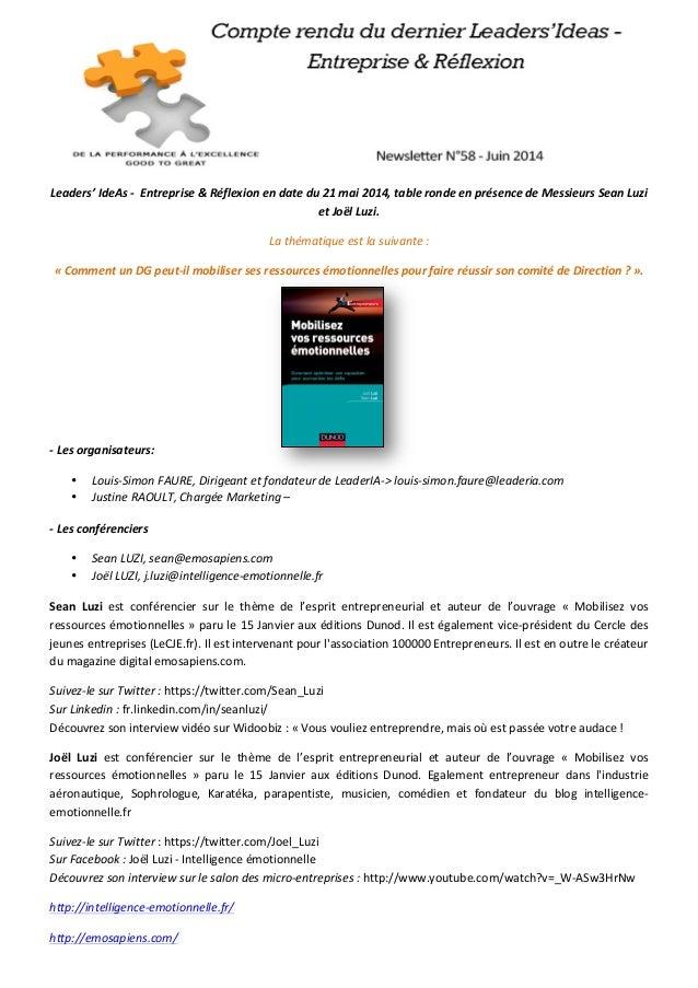 Leaders'  IdeAs  -‐    Entreprise  &  Réflexion  en  date  du  21  ...