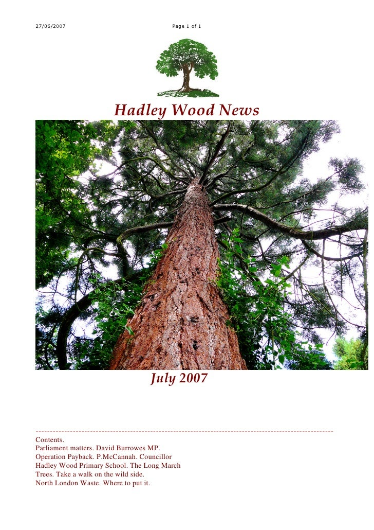 27/06/2007                                     Page 1 of 1                                Hadley Wood News                ...