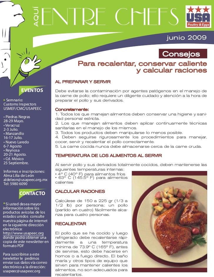 Entre chefs                   AQUÍ                                                               junio 2009               ...