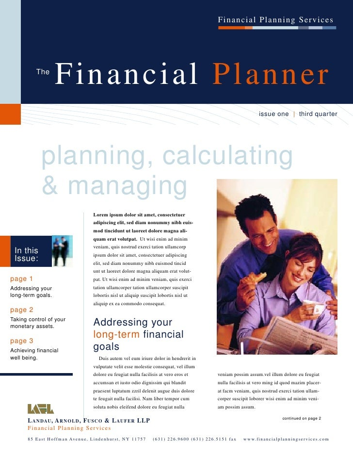 Financial Planning Services               The                    Financial Planner                                        ...