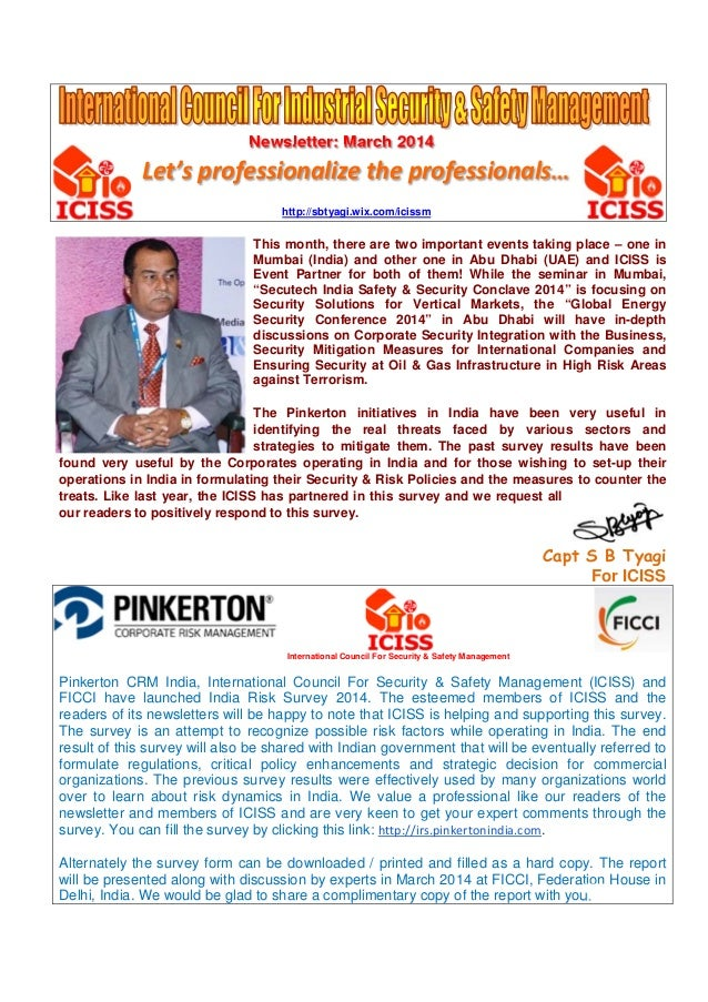 Newsletter: March 2014 Let's professionalize the professionals… http://sbtyagi.wix.com/icissm This month, there are two im...