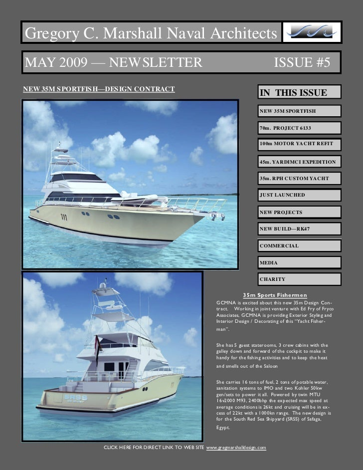Gregory C. Marshall Naval Architects MAY 2009 — NEWSLETTER                                                                ...