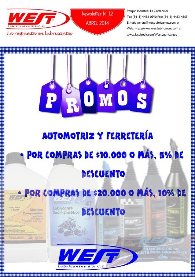 AUTOMOTRIZ Y FERRETERÍA Ÿ POR COMPRAS DE $10.000 O MÁS, 5% DE DESCUENTO Ÿ POR COMPRAS DE $20.000 O MÁS, 10% DE DESCUENTO L...