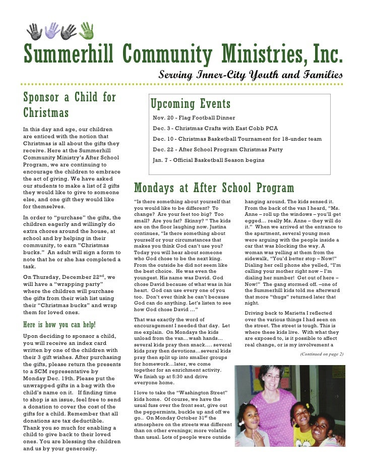 Summerhill Community Ministries, Inc.                                                   Serving Inner-City Youth and Famil...