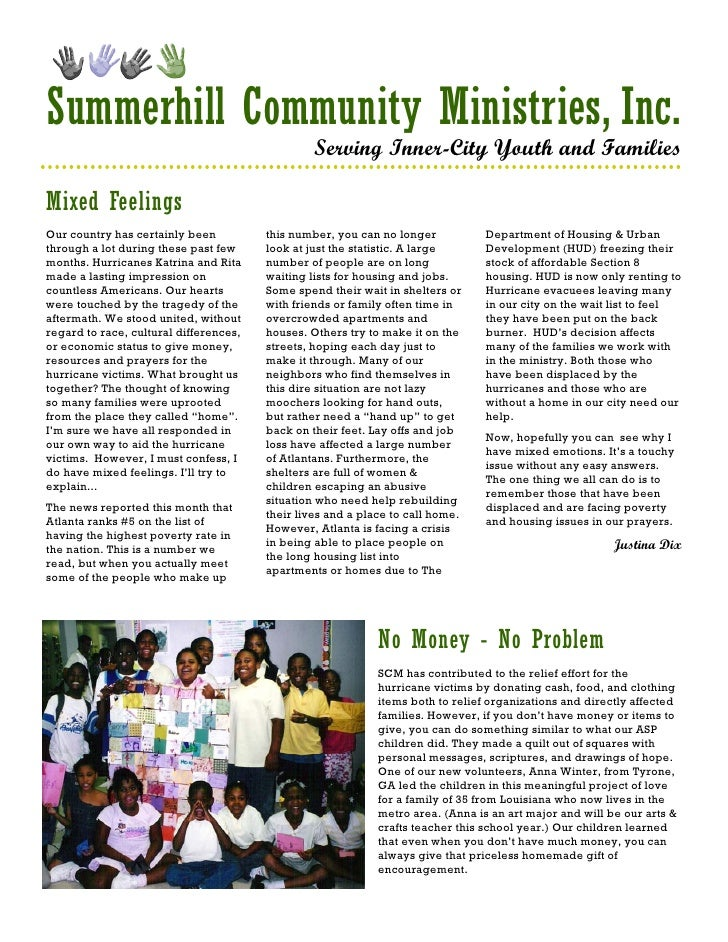 Summerhill Community Ministries, Inc.                                                  Serving Inner-City Youth and Famili...